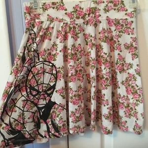 Floral skirt with Spider-Man print